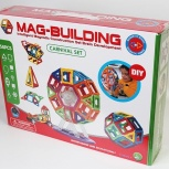 Магнитный конструктор Mag Building, 58 деталей, Новосибирск