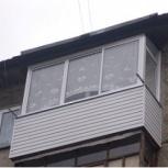 Остекление балконов алюминиевой конструкцией, под ключ, Новосибирск