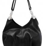 Элегантная мягкая кожаная сумка тм L Craft черная, Новосибирск
