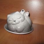 Котик - керамическая подарочная фигурка-маслёнка, Новосибирск