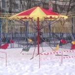 Ветерок детская мобильная передвижная карусель, Новосибирск