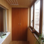 Внутренняя отделка и утепление балконов и лоджий, Новосибирск