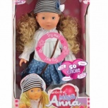 Интерактивная кукла Bambolina Miss Anna, 40 см, Новосибирск