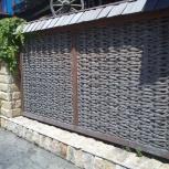 Секционный забор плетеный деревянный, Новосибирск