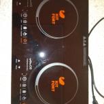 Продам идукционную 2х комфорочную плитку Kitfort KT-105, Новосибирск