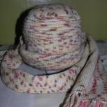 Продам новую вязаную шапку и шарф, Новосибирск