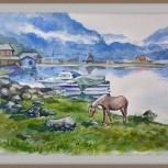 """картина """"Вечер на Телецком озере"""", Новосибирск"""