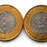 Коморские острова 250 франков 2013 - 30 лет национальному банку, Новосибирск