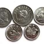 Северная Корея набор из 5 монет Цветы, Новосибирск