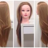Учебная голова манекен, искусственный волос (нейлон) 70 см, Новосибирск