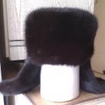 Продам норковую шапку-ушанку, Новосибирск