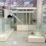 Продам новые витрины с подтоваркой, стеклянные шкафы, Новосибирск