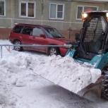Уборка и вывоз снега. Услуги, аренда мини погрузчика, Новосибирск