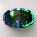 Очки спортивные черно-зеленые зеркальные, Новосибирск