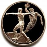 ГРЕЦИЯ 10 евро 2004 Серебро. Олимпиада. Метание диска, Новосибирск