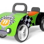 Машинка - Каталка для малышей деревянная, зеленая, Новосибирск