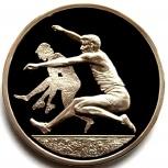 ГРЕЦИЯ 10 евро 2004 Серебро. Олимпиада. Прыжки, Новосибирск