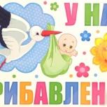 """Магниты на машину на выписку """"У нас прибавление"""", Новосибирск"""