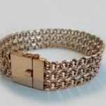 Красивый серебряный браслет, 925 проба, 54 грамма, Новосибирск