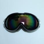 Очки горные лыжи/сноуборд черные глянцевые зеркальные, Новосибирск