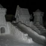 Делаем снежные фигуры, Новосибирск