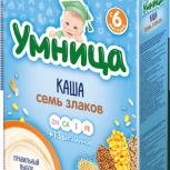 детская каша Кукурузная и 7 Злаков Умница (безмолочная), Новосибирск