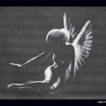 """Вышитая картина """"Тень ангела"""", Новосибирск"""