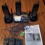 Продам dect телефон panasonic kx-tcd286ru+2 дополнительные трубки, Новосибирск