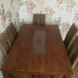 Продам обеденную зону, стол и 6 стульев., Новосибирск