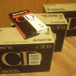 Видеокассеты sony е-180 (сша), новые в упаковках, Новосибирск