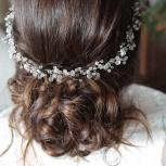 Свадебный венок для прически невесты, Новосибирск