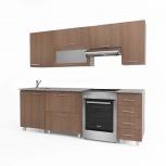 Кухонный гарнитур Милана фино/бронза горизонтальные шкафы, Новосибирск