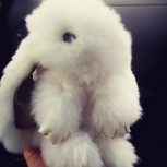 Брелок-кролик из натурального меха, Новосибирск