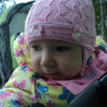 Продам шапочку на девочку весна 35-40, Новосибирск