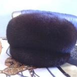 зимняя шапка Берта, норковая темно- коричневого цвета, Новосибирск
