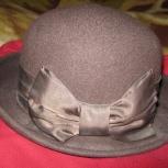 Шляпа фетровая, темно-коричневая, Новосибирск
