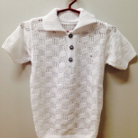 Рубашка вязаная, цвет: белый, детский трикотаж Арт.23, Новосибирск