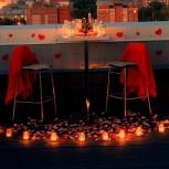 Легкий ужин в романтической атмосфере на крыше высотки для двоих, Новосибирск