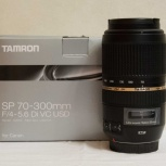Продам объектив Tamron SP 70-300mm f/4.0-5.6 Di VC USD для Canon, Новосибирск