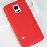Мягкий силиконовый чехол для Samsung Galaxy S5 mini SM-G800 (красн.), Новосибирск
