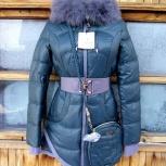 Пальто демисезонное с нат. мех лисицы - все размеры, Новосибирск