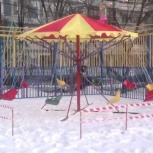 Легкая мобильная детская карусель, Новосибирск
