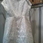Нарядное белое платье для девочки рост 140-146 фирма бенетон, Новосибирск