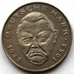 ГЕРМАНИЯ / ФРГ 2 марки 1989 (J) ЭРХАРД, Новосибирск