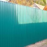 Изготовление и монтаж ворот, калиток, заборов из профлиста, Новосибирск
