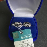 Продам серьги с белого золота, Новосибирск