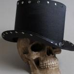 Шляпа цилиндр для Hard Rock Heavy Metal музыкантов. Ручная работа, Новосибирск