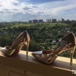 Новые золотые туфельки 38-39 рр, Новосибирск