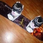 Комплект сноуборд 115, крепы и ботинки Head 34, Новосибирск