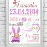 Метрика, открытки, плакаты достижений детей, Новосибирск